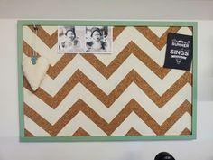 Chevron Cork Board -plain jane...definitely trying this for my dorm