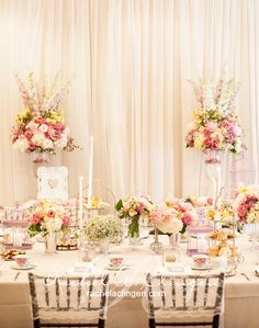 Stylish Weddings | Decor | Flowers | Head Tables | Rachel A. Clingen Wedding & Event Design