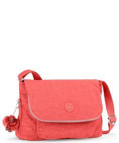 6013aea367 Casual Kipling Basic K15176 Garan - Medium Across Body Bag Pink Coral
