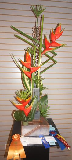 """Victoria Chandler took all of the top awards for her Creative Angular Award for the Garden Club of Ellijay's Flower Show, """"Honoring America's Women"""" …"""