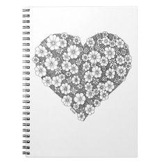 Blooming heart ringband notitieboek