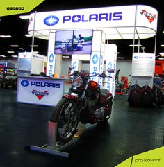 Polaris Industries booth at the Toronto Motorcycle Show. At pro-x event, our staff are experts at optimizing space and creating the best exhibit display possible to gain the maximum attention for our clients, find out more at www.proxevent.ca. ‪#‎custom‬ ‪#‎rental‬ ‪#‎booths‬ ‪#‎Toronto‬