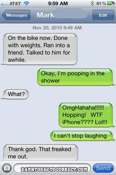 Autocorrect fail - Shower -