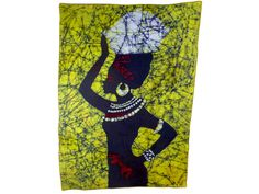 Batik Wallhanging Beautiful African Woman by OurTalkingHands