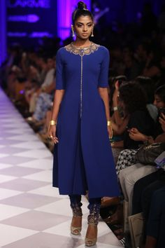 Blue embroidered kurta set. In love with blue this year. Already bought 2 blue suits. Tempted to buy this one as well
