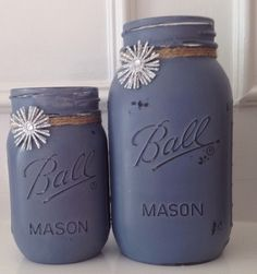 A personal favorite from my Etsy shop https://www.etsy.com/listing/217174068/painted-mason-jars-painted-withold