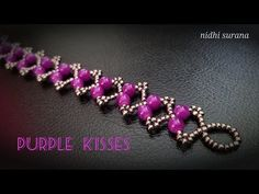⚜️ Purple Kisses, Beaded Bracelet || Easy Bracelet pattern/tutorial diy (0439) - YouTube Diy Bracelets Rubber Bands, Beaded Bracelets Tutorial, Cuff Bracelets, Beaded Jewelry Patterns, Bracelet Patterns, Diy Jewelry Inspiration, Beaded Anklets, Jewelry Making Tutorials, Jewelry Design