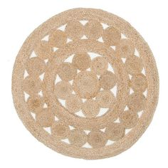 Bed1 Network Rugs Natural Daisy Jute Rug