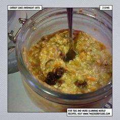 slimming world carrot cake overnight oats