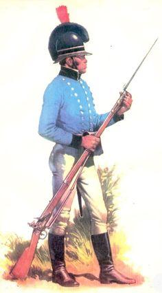 Virreinato del Río de la Plata - Invasiones Inglesas - 1806-07: Soldado del Cuerpo de Pardos.