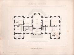 Chateau de Champs-sur-Marne ground floor plan