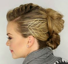 69 Best Clever Bobby Pins Images Bobby Pin Hairstyles Hairstyle