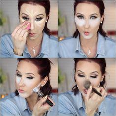 Baking Makeup Tips Faces 64 New Ideas Makeup Inspo, Makeup Inspiration, Makeup Tips, Contour Makeup, Eye Makeup, Hair Makeup, Face Contouring, Beauty Make Up, Hair Beauty