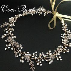 Cheap headband bow, Buy Quality tiaras cheap directly from China headband wig Suppliers:  Item No:C4Rhinestone And Pearl Wedding Crown Handmade Flower Hair Vine Bridal Headband TiaraColor: Gold