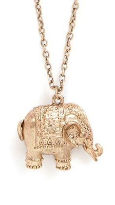Elephant Necklace ♥ {his trunk is up for good luck}