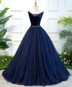 Apr 2020 - Blue tulle long prom dress, blue tulle evening dress – Simplepromdress Navy Blue Bridesmaid Dresses, Unique Prom Dresses, Pretty Dresses, Beautiful Dresses, Homecoming Dresses, Quinceanera Dresses, Wedding Dresses, Blue Evening Dresses, Long Evening Gowns