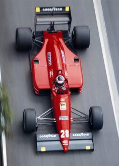 Great design - Gerhard Berger on his Ferrari - Monte Carlo, Monaco Grand Prix - 1988 Ferrari F1, Ferrari Scuderia, Ferrari Racing, F1 Racing, Monte Carlo Monaco, Escuderias F1, F40, Gerhard Berger, Monaco Grand Prix