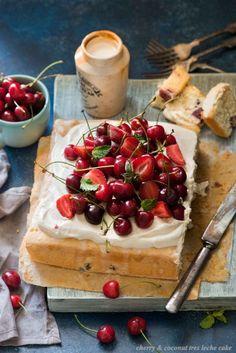 Cherry and Coconut Tres Leche Cake   The White Ramekins