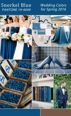modern rustic snorkel blue wedding color ideas for spring 2016 trends 2016 Wedding Trends, 2016 Trends, Wedding Themes, Wedding Designs, Wedding Styles, Wedding Ideas, Spring Wedding Colors, Blue Wedding, Wedding Colours