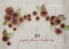 DIY: Paper Flower Backdrop