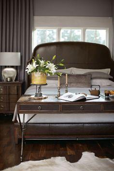 Huntington Upholstered Bed, Nightstand and Desk | Bernhardt