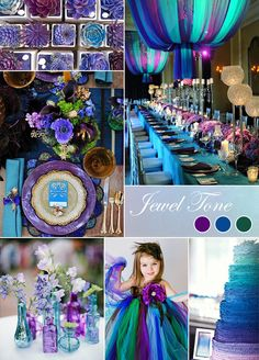 Rich and vibrant colors make jewel toned a wonderfully glamorous color palette. #weddingcolor Tabletop by Celebrations Ltd http://www.celebrationsltd.com/