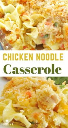 noodle casserole Chicken Noodle Casserole recipe from The Country Cook. Easy and a huge family favorite.Chicken Noodle Casserole recipe from The Country Cook. Easy and a huge family favorite. Easy Casserole Recipes, Easy Dinner Recipes, Hotdish Recipes, Easy Meals For Dinner, Easy Family Dinners, Easy Dinners, Pasta Dishes, Food Dishes, Healthy Recipes