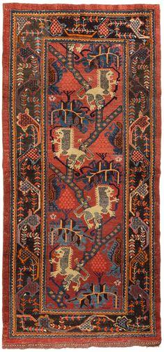 Kurdish rug, 110x236 cm, ca 1900, Schuler Auktionen Zürich