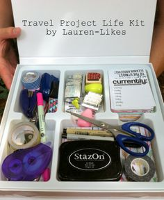Travel Project Life Kit by Lauren Likes Project Life Travel, Project Life Album, Project Life Layouts, Project Life Organization, Travel Crafts, Pocket Scrapbooking, Travel Kits, Travel Hacks, Smash Book