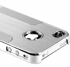 Amazon.com: Premium Chrome Aluminum Skin Hard Back Case Cover for Apple iPhone 4 4G 4S Silver: Cell Phones & Accessories
