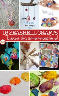 My kids love collecting seashells so these kid crafts are perfect!