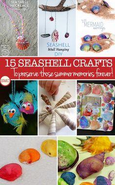 15 Seashell Crafts for Kids – Preserve Those Summer Memories Forever!