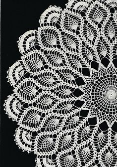 crochet doily...pineapple Pattern