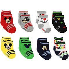 Mickey and Minnie Mouse Baby Boys Girls 8 pack Socks (6-1... https://www.amazon.com/dp/B01MDRD063/ref=cm_sw_r_pi_dp_x_ILEgybCPYMRPC