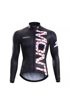 Monton 2015 Black Winter Cycling Jersey, Fleece Cycling Jersey Online Sale