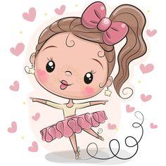 Cute Ballerina on a white background. Cute Cartoon Ballerina on a white background royalty free illustration Cartoon Cartoon, Cute Cartoon Girl, Illustration Mignonne, Cute Illustration, Ballerina Cartoon, Princess Cartoon, Adobe Illustrator, Cartoon Mignon, Art Mignon