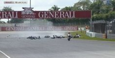 "Spaniard Esteve Rabat (KALEX) won the Moto2 race in the Malaysian Grand Prix at the Sepang Internationa Circuit on Sunday 13/10/2013, but the competition was shortened after a terrific accident involving five motorcyclists, informs AFP (scroll down for videos) [caption id=""attachme..."