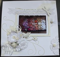 Flowers & Doilies & Leave OH MY!  by Amy Prior- Scrapbook.com