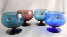 ALSTERFORS GLASS SET 4 MID CENTURY SWEDEN : Lot 2014