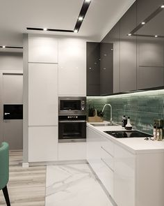 Excellent modern kitchen room are readily available on our internet site. Kitchen Room Design, Luxury Kitchen Design, Kitchen Cabinet Design, Luxury Kitchens, Kitchen Layout, Home Decor Kitchen, Interior Design Kitchen, Kitchen Furniture, Home Kitchens