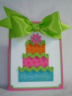 Tarjeta torta de cumpleaños