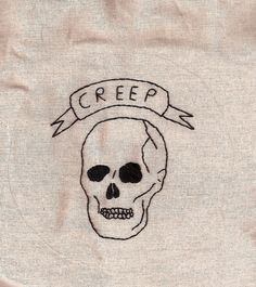 Simple skull embroidery