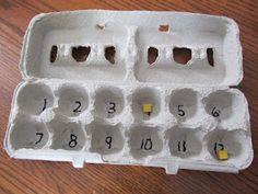 Math Review Game: Egg Carton Scramble