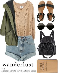"""""""wander"""" by breakers ❤ liked on Polyvore. I can totally see @Jenifer Abercrombie wearing this outfit."""