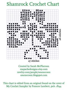 Shamrock Crochet Chart