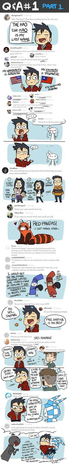 Mondo Mango :: Q&A #1 Part 1 | Tapastic Comics - image 1