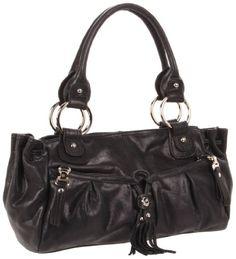 B. MAKOWSKY Yvette Shoulder Bag,Black,One Size