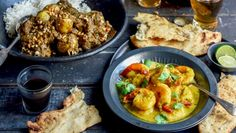 To impress pot luck dinner guests, try this hearty tender beef curry or super-easy but succulent prawn curry.