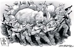 Not funny > 84 rhino deaths (via poaching) already in 2012 Save The Rhino, Circle Of Life, Gentle Giant, Political Cartoons, Animal Kingdom, Rhinos, Lion Sculpture, African, Elephants