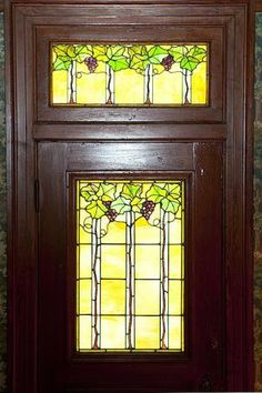 Historic Arts & Crafts stained glass. From 1905 Galveston TX mansion, East End Historical District. Stained Glass Door, Stained Glass Designs, Stained Glass Patterns, Leaded Glass, Beveled Glass, Mosaic Glass, Window Glass, Glass Doors, Craftsman Interior